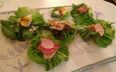 Sulle foglie d'insalata…