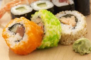 sushi-con salsa-wasabi